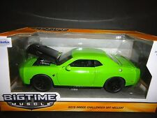 Jada Dodge Challenger SRT Hellcat 2015 Lime Green 97854 1/24
