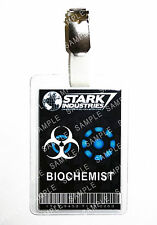 Iron Man Stark Industries Biochemist ID Badge Cosplay Prop Costume Christmas