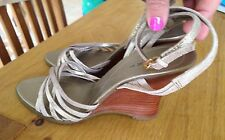 Next New Gold Strappy Sandals Wedges Shoes Rrp £30