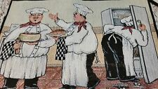 Italian Bistro Chef Table Tapestry Place Mats Set of 4 NEW