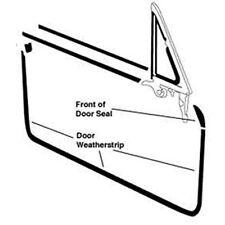1969-1970 Ford Mustang Cougar Door Weatherstrip