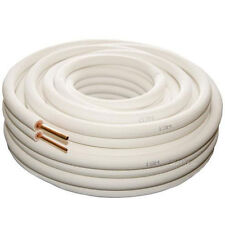 """AIR CONDITIONER TUBE 1/4"""" 3/8"""" INSULATED  COPPER PIPE TWIN PAIR 20M  R410A"""