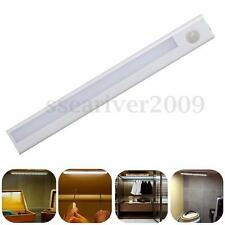 8 LED PIR Motion Sensor Detector Night Light Drawer Closet Lamp Battery Powered