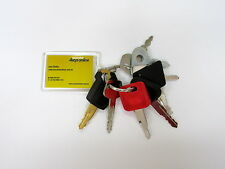 9 Excavator and heavy plant master keys, caterpillar komatsu hitachi sumitomo