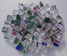 YK * 100 * GREEN n CLEAR * KILN FIRED MOSAIC TILES 10mm x 10mm x 3mm Thick