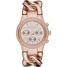 MICHAEL KORS MK3247 LADIES ROSE GOLD RUNWAY TWIST WATCH