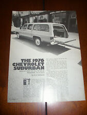 1976 CHEVROLET SUBURBAN - ORIGINAL ARTICLE