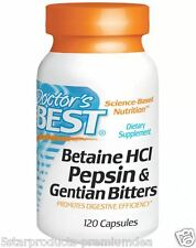 Doctor's Best Betaine HCL Pepsin & Gentian Bitters Dietary Supplement 120 Caps