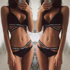 Lady Bandage Bikini Set Push-up Padded Bra Swimsuit Bathing Swimwear Size S-XL