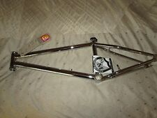 "S&M C.C.R BMX BIKE FRAME 21""tt CHROME Fit a 20"" WHEEL w3/8"" HUB FREESTYLE SM NEW"