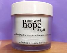 New! *PHILOSOPHY* RENEWED HOPE IN A JAR Moisturizer Anti-Aging Lotion JUMBO 4oz!