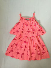 NEW NEXT NEON PINK FLAMINGO DESIGN SUN DRESS - AGE 3 YRS 98CM