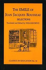 Emile of Jean Jacques Rousseau, , , Very Good, 1962-06-01,