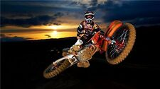 "MOTOCROSS DIRT BIKE JUMP SPORT PHOTO ART PRINT POSTER 44""x24"" 002"