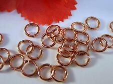 25x SHINNY SOLID COPPER JUMP RINGS, 16ga, 8mm