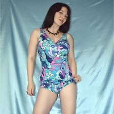 formender BODY* Vintage Badeanzug glänzend* L 44/46 Schalen Cups Gymnastikanzug