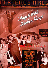 """ANGELS WITH BROKEN WINGS Sheet Music """"In Buenos Aires"""" Leo Gorcey Mary Lee"""