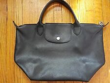 Longchamp Modele Depose Made in France Leather Medium Short Handles Bag Tote