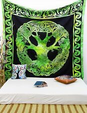 Celtic Tree Of Life Indian Hanging Cotton Wall Tapestry Full Size Throw TPL20D