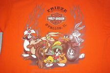 Harley Davidson Looney Tunes Taz Bugs Daffy Speedy Frieze O'Fallon IL.T-Shirt Sm