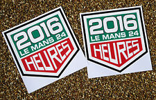 LE MANS 24 HOURS 2016 WINDSCREEN stickers x2 for INSIDE GLASS