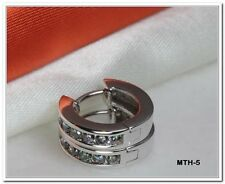 1.40 CRT STERLING SILVER 925 MYSTIC FIRE TOPAZ HUGGIE HOOP EARRINGS-MTH-5-BLNC-H