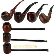 New Dark Red Handmade Wooden Wood Smoking Pipe Tobacco Cigarettes Cigar Pipes