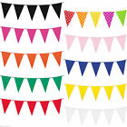 10m Giant Colourful Multi Colour Bunting Wedding Party Banner Blue green pink