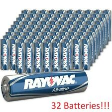 32 PACK OF BRAND NEW RAYOVAC AAA ALKALINE BATTERIES 815-4F 1.5V LR6 EXPIRES 2025