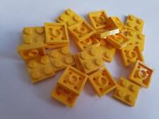 Lego Yellow Plate 2x2, Part 3022, Element 302224, Qty:25 - New