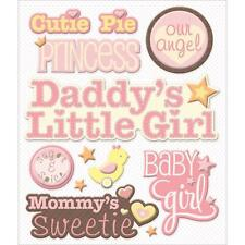K&COMPANY STICKER MEDLEY BABY GIRL CUTE NAMES DADDY'S GIRL 3D SCRAPBOOK STICKERS