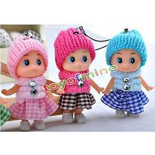 6X Mignon Peluche Interactif Baby Dolls jouets Mini Poupée Pour Fille Décor