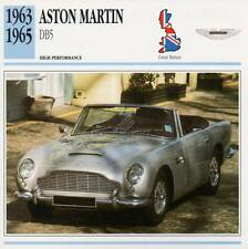 1963-1965 ASTON MARTIN DB5 #1 Classic Car Photo/Info Maxi Card