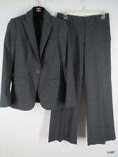 $600 THEORY 4 S Charcoal Gray Wool Suit Jacket Abel Tailor Pants Career Work EUC