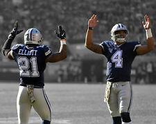 Dallas Cowboys DAK PRESCOTT & EZEKIEL ELLIOTT Glossy 8x10 Photo Spotlight Poster