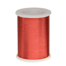 "43 AWG Gauge Enameled Copper Magnet Wire 1.0 lbs 66092' Length 0.0024"" 155C Red"