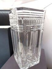 "Waterford Crystal, America's Heritage Collection, LINCOLN, Large 10"" Square Vase"