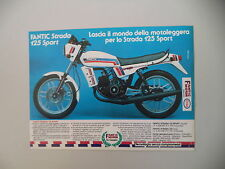 advertising Pubblicità 1983 MOTO FANTIC STRADA 125 SPORT