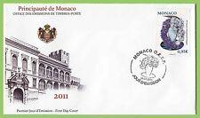 Monaco 2011 Flowers Exhibition First Day Cover
