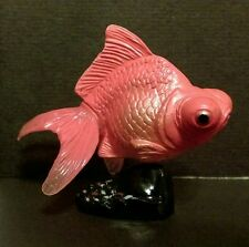RARE Kaiyodo Choco Q Egg Pet Demekin Telescope Eye Orange Goldfish Fish Figure