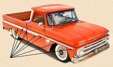 1962 1963 1964 1965 1966 CHEVROLET TRUCK SHORTBED FLEETSIDE SIDE MOULDING KIT
