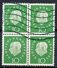 Bundespost  303 gebruikt blok van 4 (2)