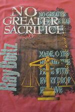 Mens graphic design Ray Boltz No Greater Sacrifice t-shirt sz XL by FOL