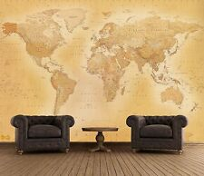 Wall mural wallpaper 315x232cm Old style Map of the World home walls photo decor