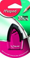 Maped 006800 Tonic Metal 1 Hole Pencil Sharpener - Asst Colours PINK BLUE GREEN