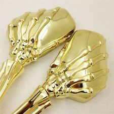 For Harley Heritage Springer Sportster Dyna Glide Rod Metal Claw Skull Mirrors