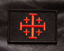 JERUSALEM CROSS INFIDEL CRUSADER HOOK LOOP MORALE PATCH