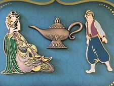 D23 Expo 2015 Disney Store Aladdin Art of Jasmine 3 Pin Set LE 1000 New