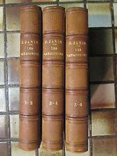JANIN : LES CATACOMBES, 1839. 6 tomes en 3 volumes en demi maroquin. E.O.