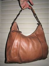 Coccinelle tan leather bag with a matching purce